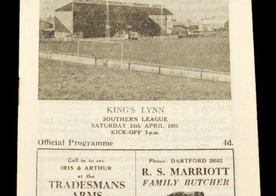 Dartford Club v King's Lynn 24.04.1965
