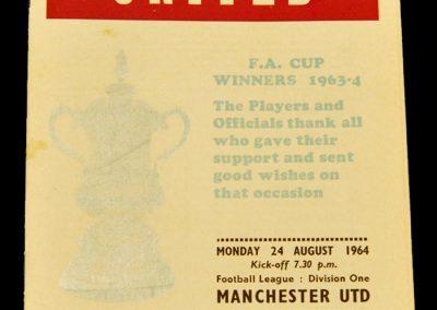 West Ham United v Manchester UTD 24.08.1964