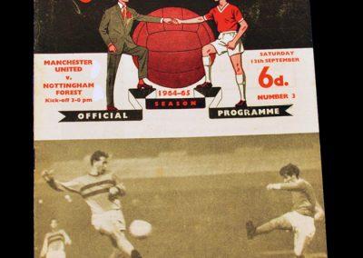 Manchester United v Nottingham Forest 12.09.1964