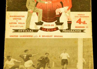 Manchester United v Aston Villa 26.12.1958