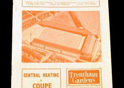 Stoke city v Manchester United 19.09.1964