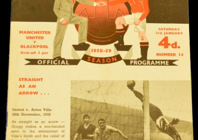 Blackpool v Manchester United 03.01.1959