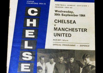 Chelsea v Manchester United 30.09.1964