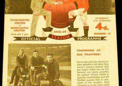 Newcastle United v Manchester United 31.01.1959