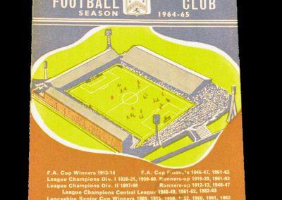 Burnley v Manchester United 06.10.1964