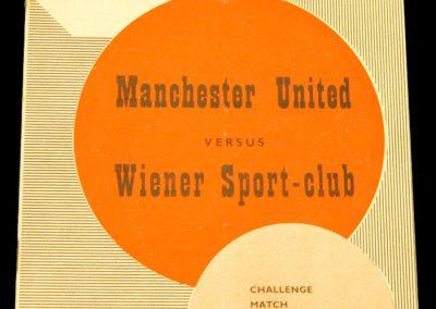 Manchester United v Wiener Sport Club 11.02.1959