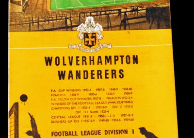 Wolverhampton Wanderers v Blackpool FC 17.10.1964