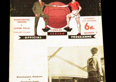 Aston Villa v Manchester United 24.10.1964