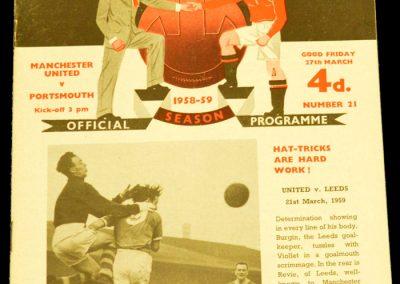 Portsmouth v Manchester United 27.03.1959