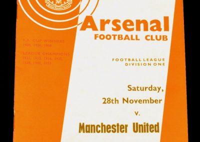 Arsenal v Manchester United 28.11.1964