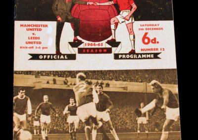 Leeds United v Manchester United 05.12.1964