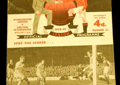Bolton Wanderers v Manchester United 04.04.1959