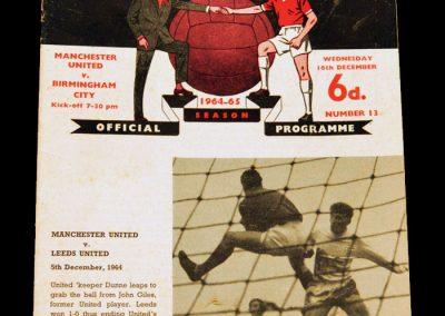Birmingham City v Manchester United 16.12.1964