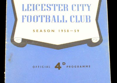 Leicester City v Manchester United 25.04.1959