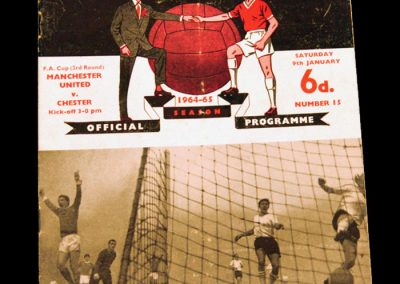 Manchester United v Chester 09.01.1965 | FA Cup 3rd Round