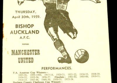 Bishop Auckland v Manchester United 30.04.1959