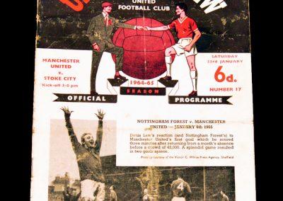 Manchester United v Stoke City 23.01.1965