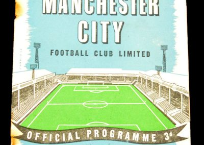 Manchester City v Preston North End 30.08.1958