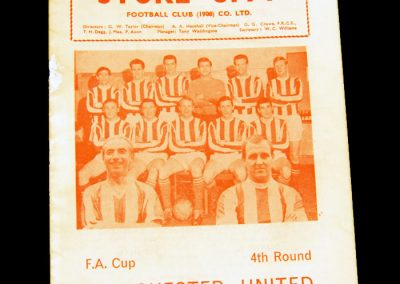 Manchester United v Stoke City 30.01.1965 | FA Cup 4th Round