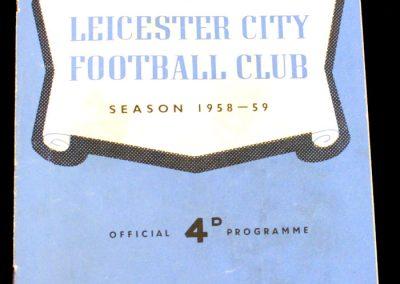 Leicester City v Manchester City 06.09.1958