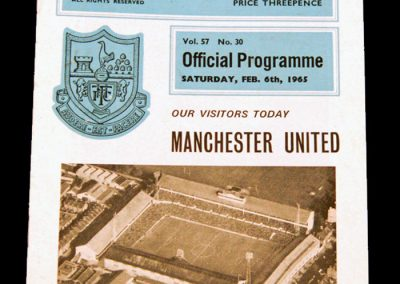 Tottenham Hotspur v Manchester United 06.02.1965