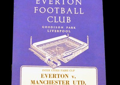 Everton v Manchester United 09.02.1965 | Inter-Cities Fairs Cup | 3rd Round 2nd leg