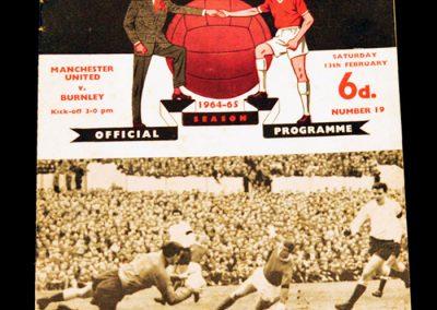 Burnley v Manchester United 13.02.1965