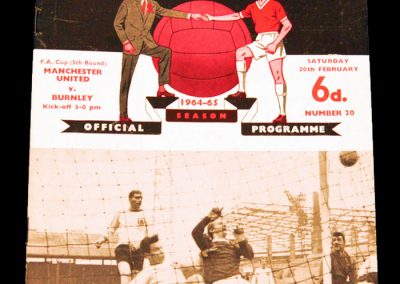 Manchester United v Burnley 20.02.1965 | FA Cup 5th Round