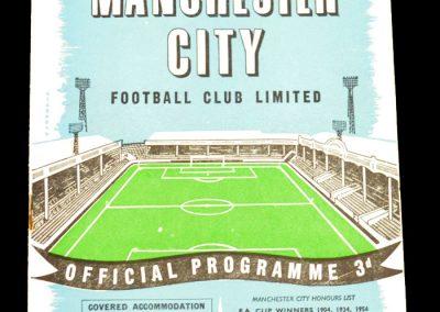 Manchester City v Manchester United 27.09.1958