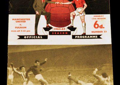 Manchester United v Fulham 15.03.1965