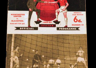 Manchester United v Blackpool 22.03.1965