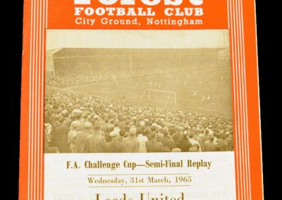 Manchester United v Leeds United 31.03.1965 | FA Cup Semi-Final Replay