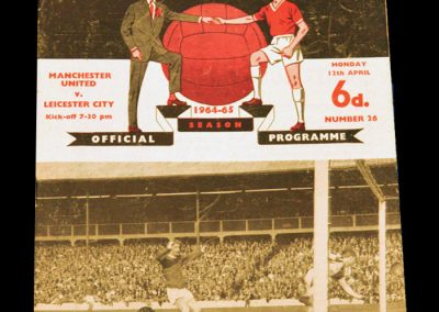 Manchester United v Leicester City 12.04.1965