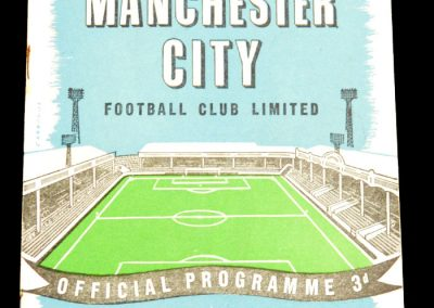 Manchester City v Burnley 20.12.1958