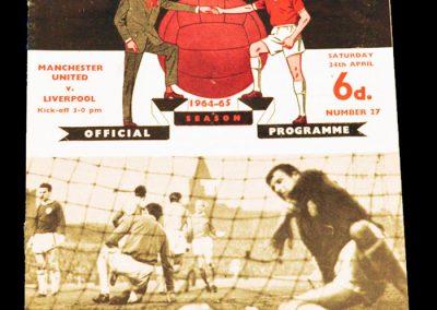 Manchester United v Liverpool 24.04.1965