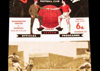 Manchester United v Arsenal 26.04.1965