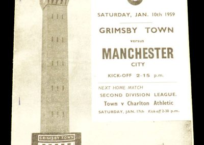 Grimsby Town v Manchester City 10.01.1959 | FA Cup 3rd Round