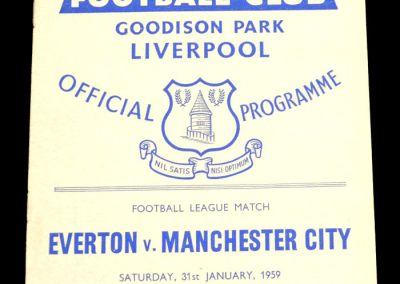 Everton FC v Manchester City 31.01.1959