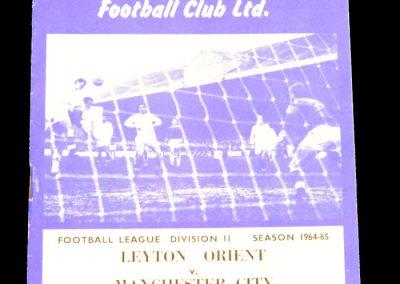Leyton Orient v Manchester City 31.08.1964