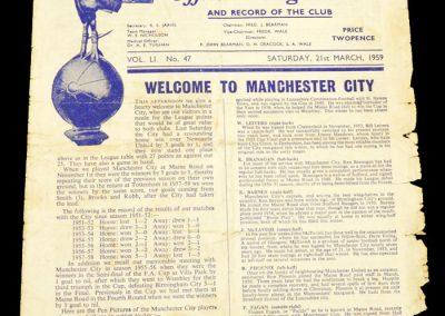 Tottenham Hotspur v Manchester City 21.03.1959
