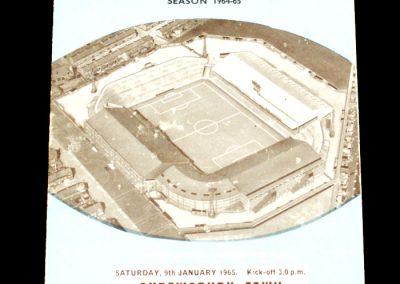 Manchester City v Shrewsbury Town 09.01.1965   FA Cup 3rd Round