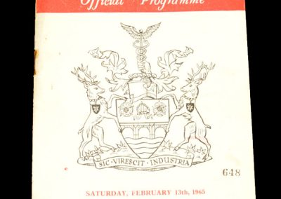 Manchester City v Rotherham United 13.02.1965