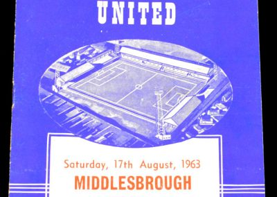 Peterborough United v Middlesbrough 17.08.1963