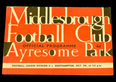 Southhampton v Middlesbrough 05.10.1963