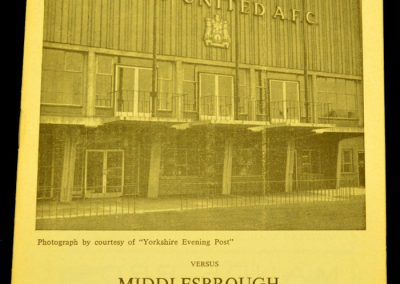 Leeds United v Middlesbrough 09.10.1963