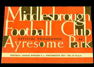 Portsmouth v Middlesbrough 12.10.1963