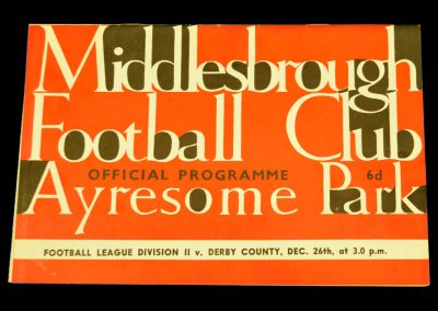 Derby County v Middlesbrough 26.12.1963