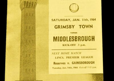 Grimsby Town v Middlesbrough 11.01.1964