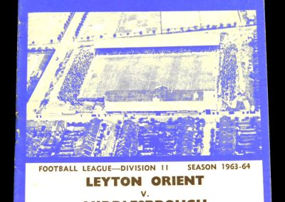 Leyton Orient v Middlesbrough 01.02.1964