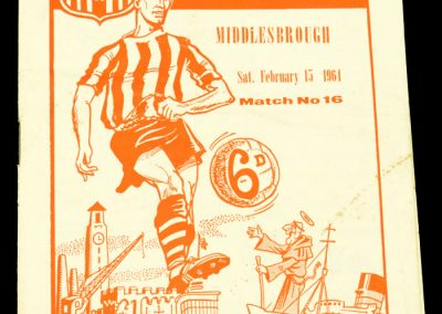 Southampton v Middlesbrough 15.02.1964